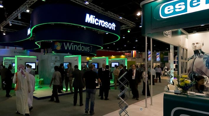 360 panorama photo in Dubai at GITEX - Microsoft Windows 7