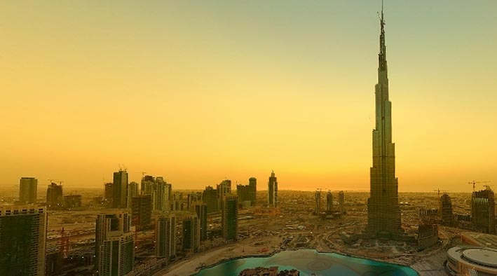 360 panorama photo in Dubai at Burj Khalifa Downtown