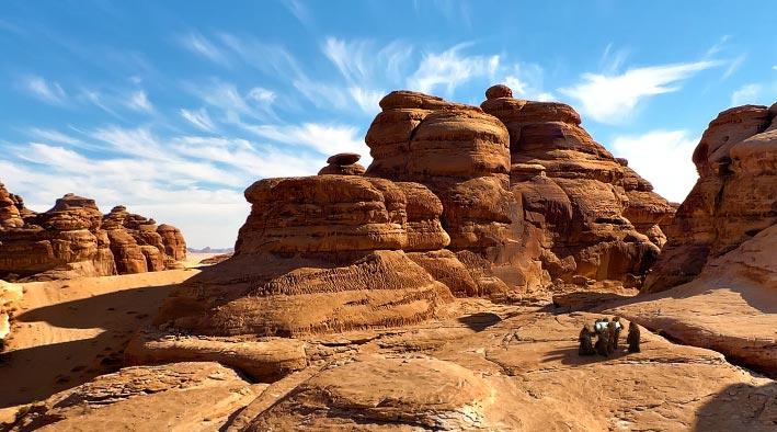 360 panorama photo inDubai at The Tatooine During Sunset