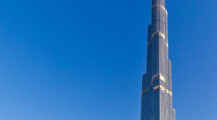360 panorama photo inDubai at The Burj Khalifa