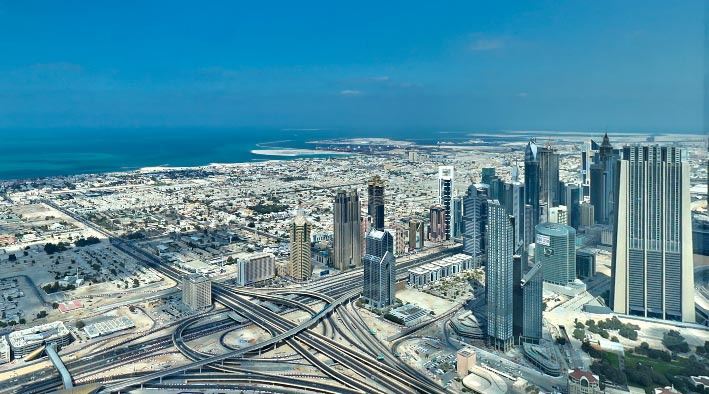360 panorama photo inDubai at Burj Khalifa Tower