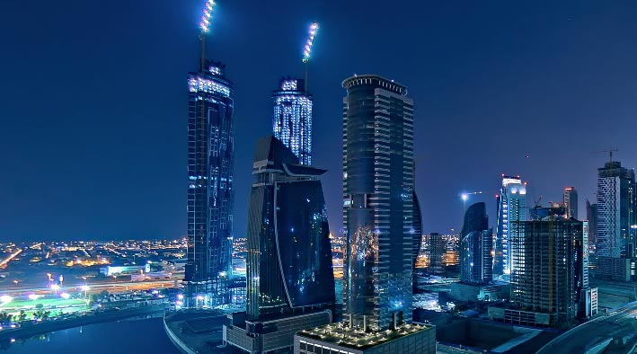 360 virtual tour in Dubai at Churchill Towers - Balcony View 2