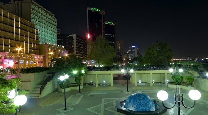 360 panorama photo inDubai at Deira in The Evening