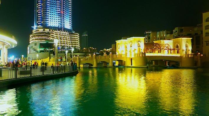 360 panorama photo inDubai at Burj Khalifa Fountain