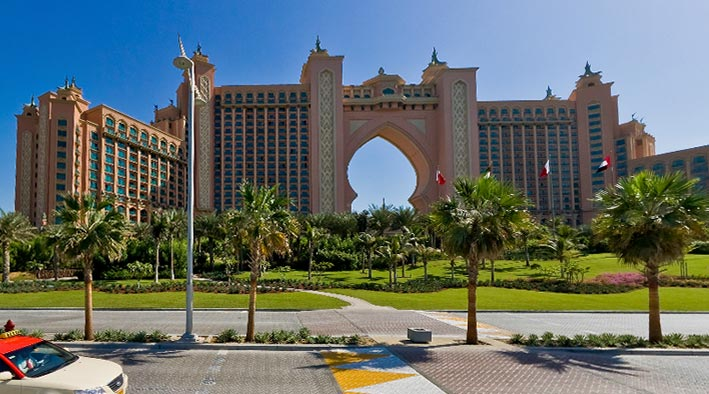 360 panorama photo in Dubai at Hotel Atlantis - The Palm Jumeirah