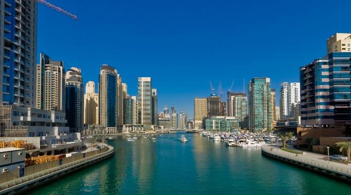 360 panorama photo inDubai at Dubai Marina