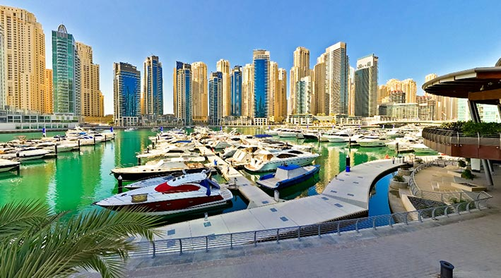 360 panorama photo in Dubai at Marina Yacht Club