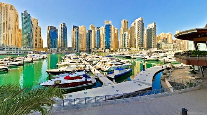 360 panorama photo inDubai at Marina Yacht Club