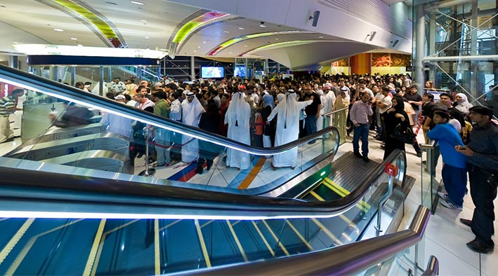 360 panorama photo in Dubai at Dubai Metro - Mall of the Emirates Station
