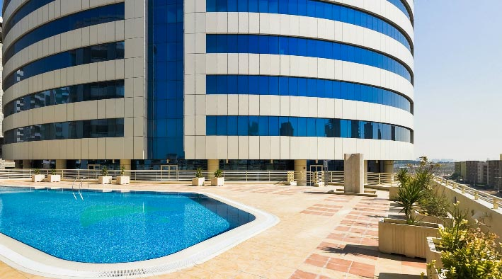 360 panorama photo in Dubai at Executive Heights - TECOM