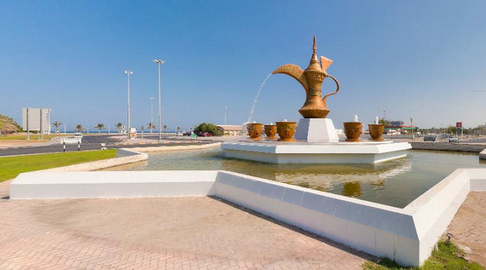 360 panorama photo in Fujairah at The Coffee Pot Roundabout