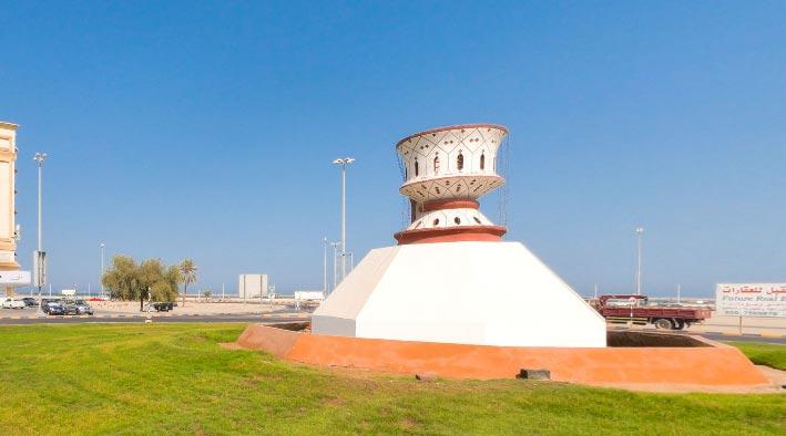 360 panorama photo inFujairah at The Incense Burner Roundabout