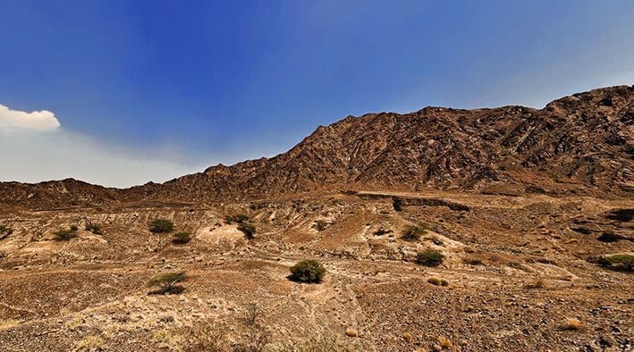 360 panorama photo in Fujairah at Mountains at Friday Market