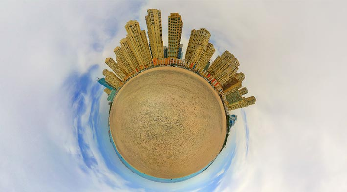 360 panorama photo in Dubai at Jumeirah Beach Residence