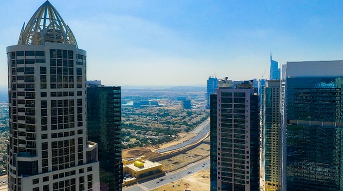 360 panorama photo in Dubai at Jumeirah Lake Towers