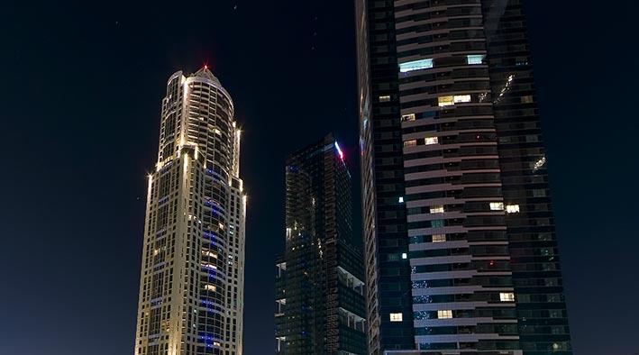 360 panorama photo inDubai at JLT - Lake Shore Towers