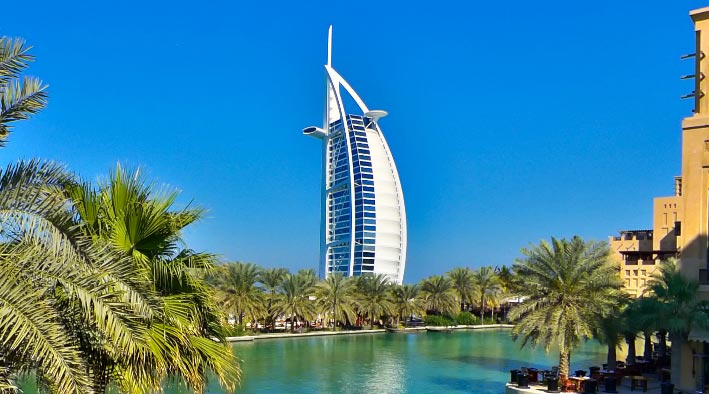 360 panorama photo in Dubai at Jumeirah Madinat - Burj Al Arab