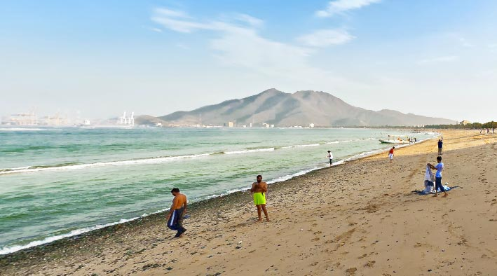 360 panorama photo in Khor Fakkan at Khor Fakkan Beach