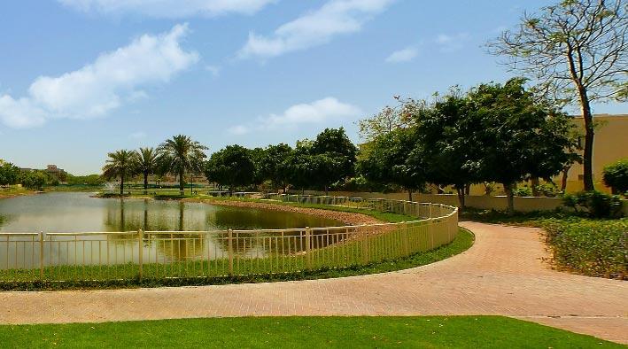 360 panorama photo inDubai at The Lakes