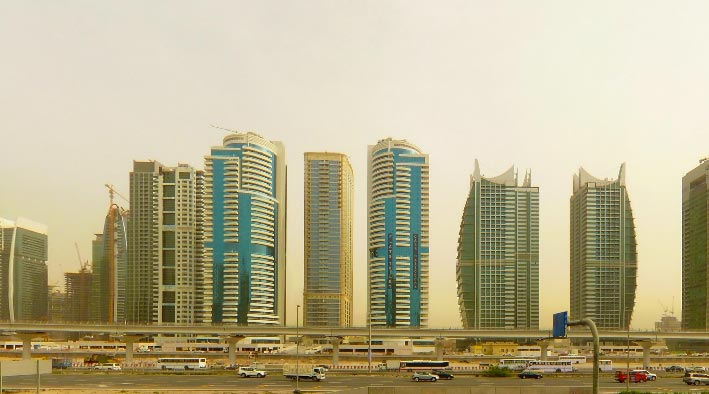 360 panorama photo in Dubai at Jumeirah Lake Tower