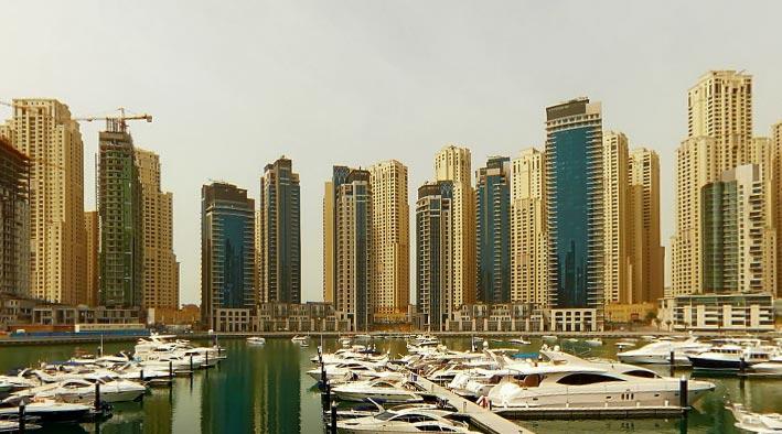 360 panorama photo inDubai at Dubai Marina Yacht Club
