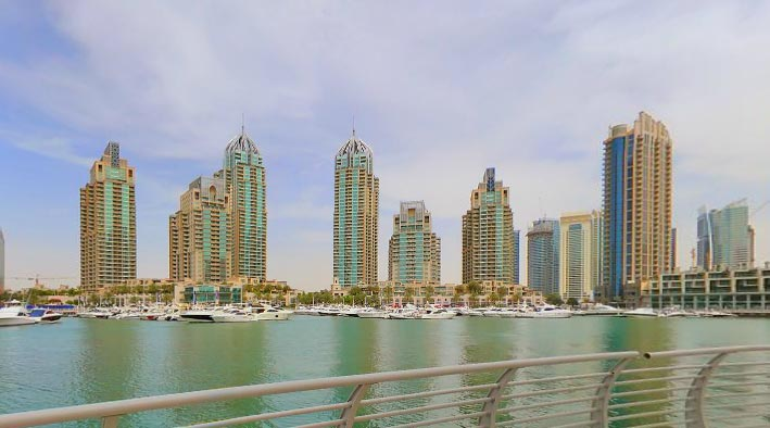 360 panorama photo inDubai at Dubai Marina Towers