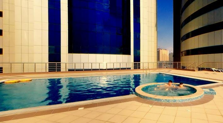 360 panorama photo inSharjah at The Bin Ham Building (Three Tower)